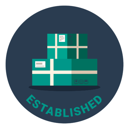 """Illustration of two green boxes, under it says """"Established"""""""