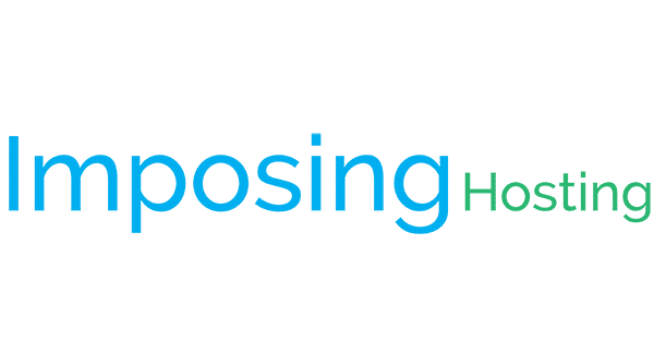 Blue and green logo of Imposing Hosting