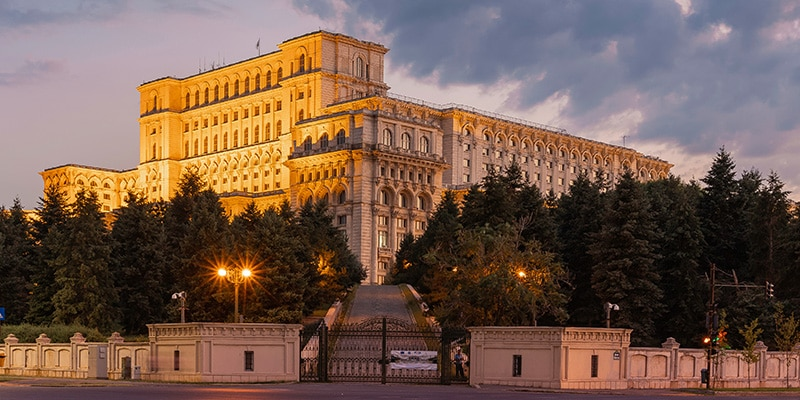 Palace of Parliament in Bucharest, Romania